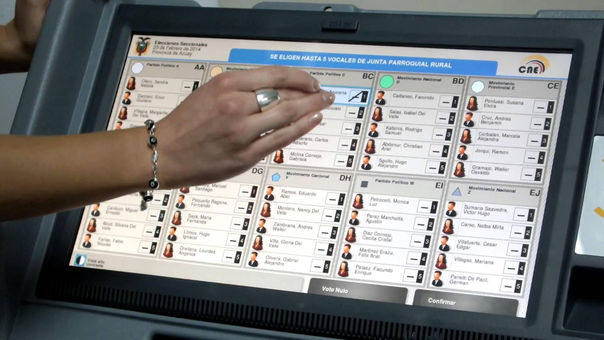 Las debilidades del voto electrónico