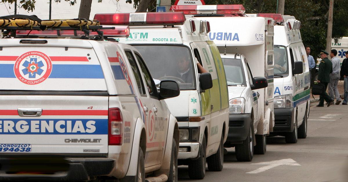 El terror de las ambulancias en Bogotá