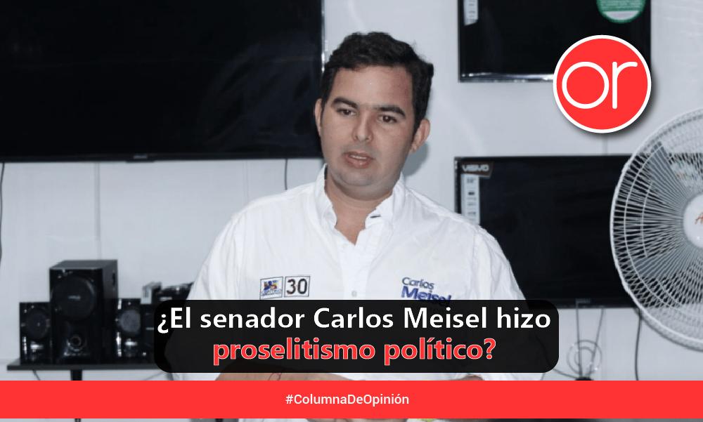 La jugada legalmente maestra Carlos Meisel, el senador del Centro Democrático