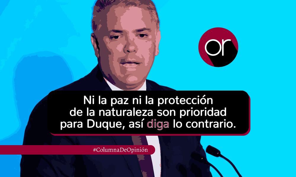 El doble discurso del presidente Iván Duque