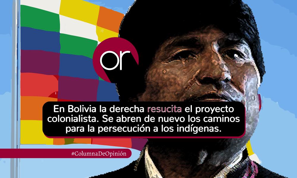 Evo Morales y la Whipala