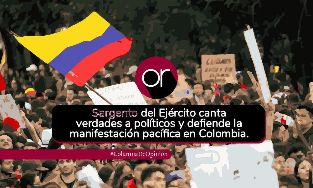 «Las Fuerzas Armadas no están para ser idiota útil de ningún político de turno», sargento a María Fernanda Cabal
