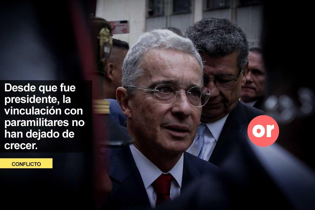Álvaro Uribe y el frente paramilitar Bloque Metro