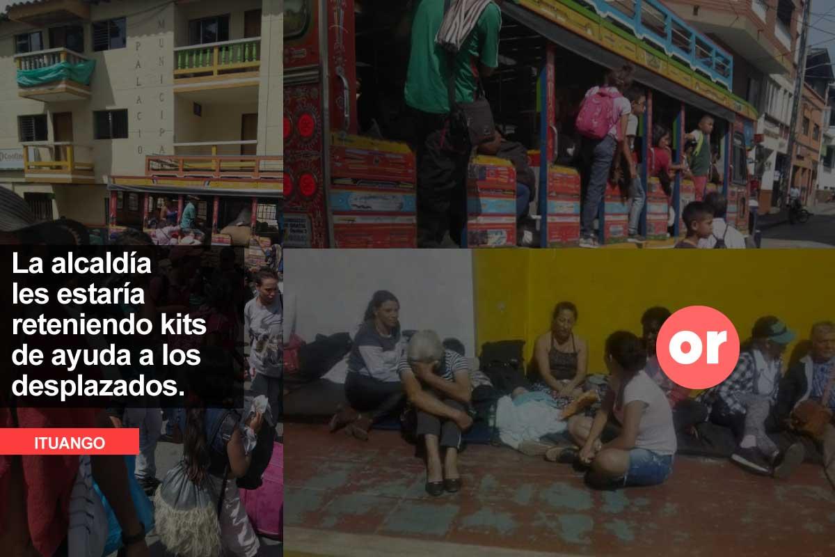 Quieren que campesinos desplazados en Ituango regresen sin garantías