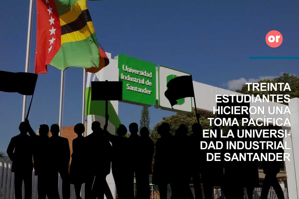 Toma pacífica de la Universidad Industrial de Santander por parte de sus estudiantes