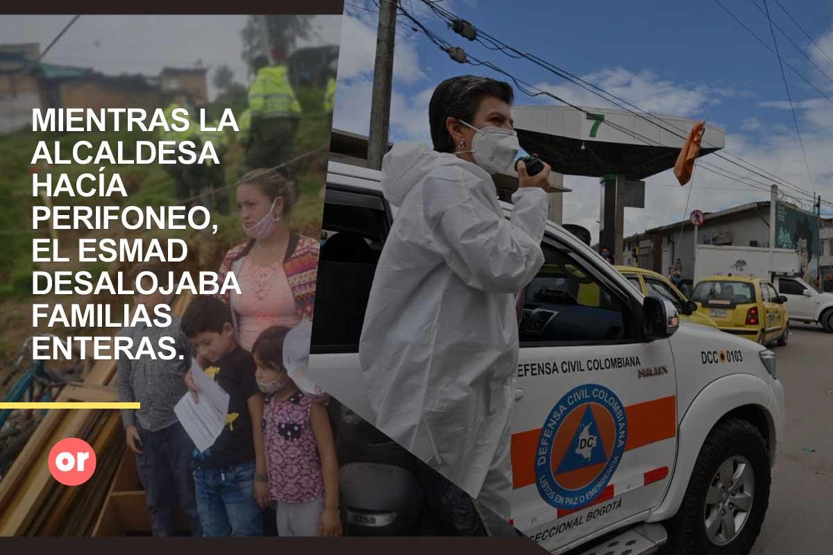 Desalojos en plena cuarentena: las contradicciones de Claudia López
