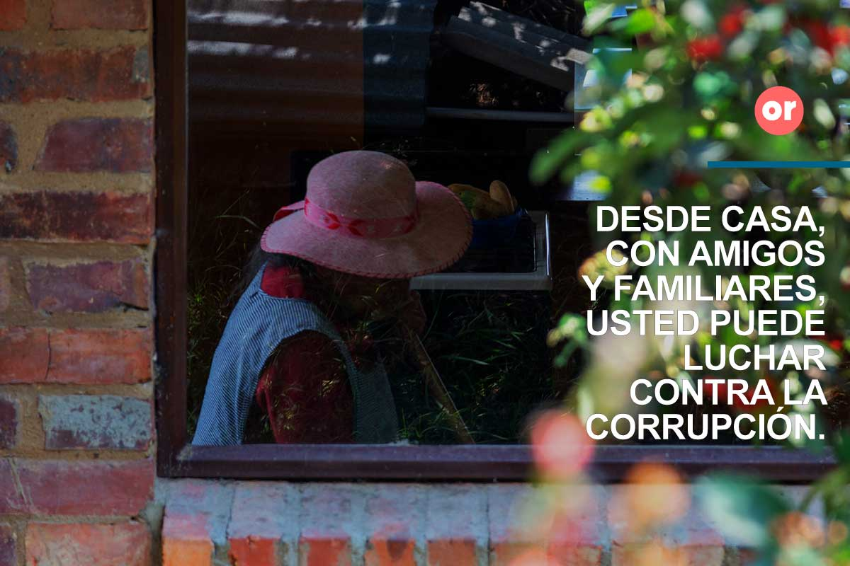 ¿Eres parte de la corrupción o de la solución?