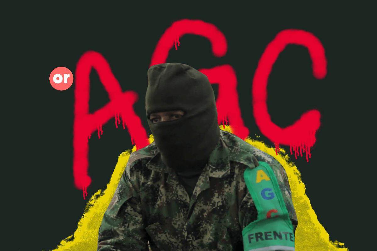 Grafitis paramilitares del terror