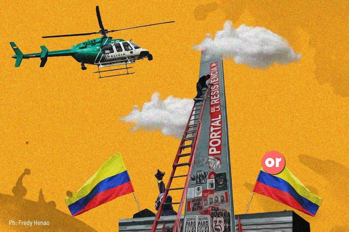 El Portal de la Resistencia, epicentro de la lucha en Bogotá