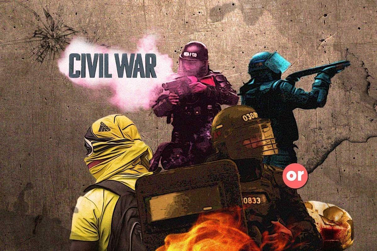 Un pueblo con insomnio de lo que ya parece una guerra civil